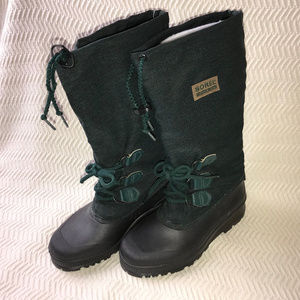 Sorel Green Insulated Removable Felt Tall Boots 7